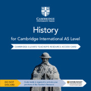 Cambridge International AS Level History Cambridge Elevate Teacher's Resource Access Card By John Etty, Philip Wadsworth, Anna Cowper